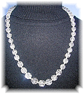 Graduated Cut Crystal 23 Inch Necklace (Image1)