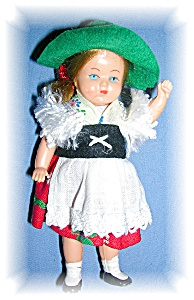 Tyrollean 3 3/4 InCollectible Cellulose Doll (Image1)