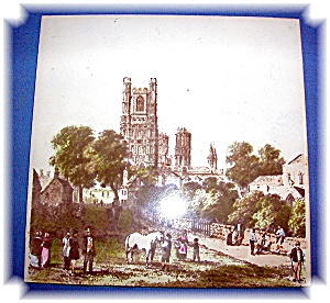 Hand Painted Ely pottery Tile English  (Image1)
