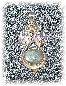 Sterling Silver Amethyst Blue Moonstone Pend (Image1)