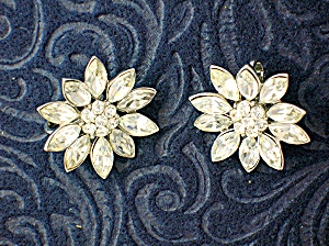 Crown TRIFARI Crystal Clip Earrings (Image1)