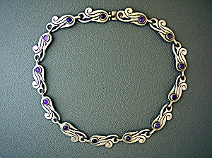 BETO Mexico Sterling Silver Amethyst Necklace  Bracelet (Image1)
