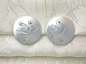 Sterling Silver Turquoise Clip Earrings Signed BAB (Image1)