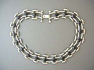 Taxco Mexico Sterling Silver 950 Black Onyx necklace (Image1)