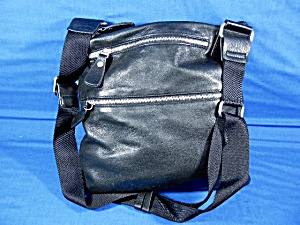 Margo Black Leather Cross Body Bag (Image1)
