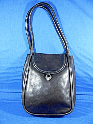Black Leather Paris France Lalique Bag