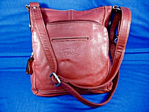 Cross Body Bag Fossil Red Leather