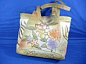 Great American Leather Works Handpainted Handbag