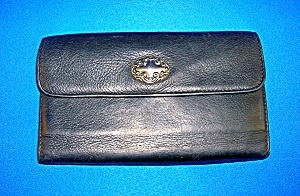 Black Leather Wallet .....................