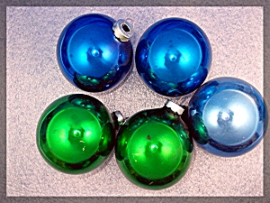 Lot Of 5 Christmas Tree Ornaments