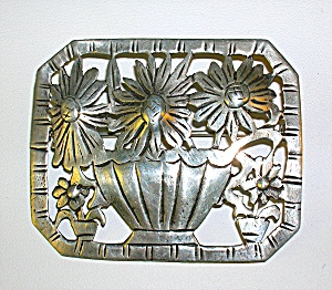 Sterling Silver SUNFLOWER Brooch Pin (Image1)