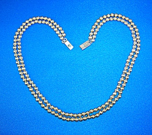 Necklace  Sterling Silver  Taxco Mexico Beads (Image1)