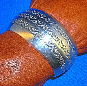 Native American Allison Gee Sterling Silver Cuff   (Image1)