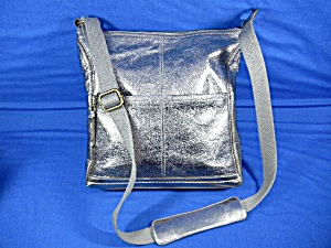 The Sak Silver Leather Cross Body Bag (Image1)