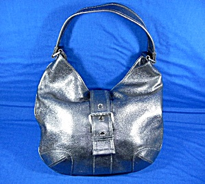 Michael Kors Silver Leather Bag (Image1)