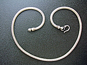 Sterling Silver Snake Chain Hook Clasp (Image1)