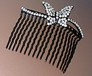 Silver Crystal Hair Comb (Image1)