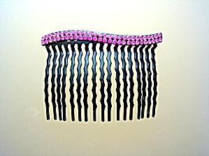 Hot Pink Crystal Hair Combs (Image1)