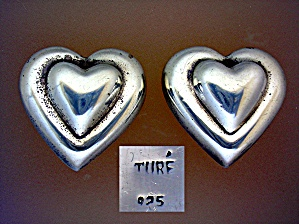 Sterling Silver Ture Heart Clip Earrings  (Image1)