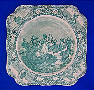 Crown Ducal Collector's Plate Colonial Times Pilgrims . (Image1)