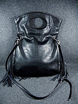 Australia Black Leather Urban Originals Fringed Bag
