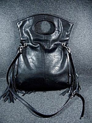Australia Black Leather Urban Originals Fringed  Bag  (Image1)