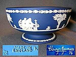 """Wedgewood Jasperware 8 ¼"""" Imperial Bowl. artist (Image1)"""
