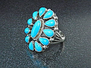 Sterling Silver And Turquoise Ring By Paul Stuingston