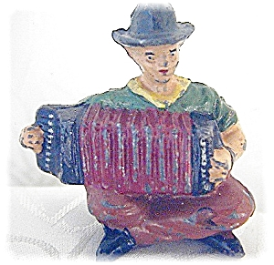 Lone Star Diecast Metal Cowboy & Accordian Toy (Image1)