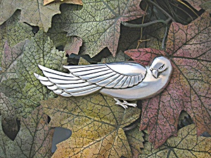 Sterling Coro Norseland Dove Bird Pin Brooch . . . (Image1)