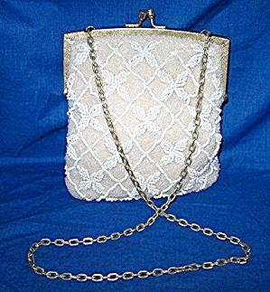 Vintage Beaded Evening Bag  WALBACG with Chain (Image1)