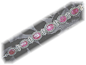 Ruby Sterling Silver Toggle Bracelet Bracelet Indonesia