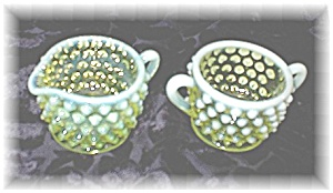 Palest Yellow Green Hobnail Vaseline Glass (Image1)