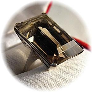 Ring Square Golden Citrine & Sterling Silver  (Image1)