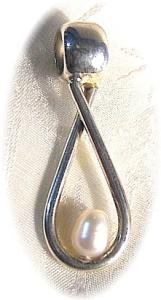 Sterling Silver & Freshwater Pearl Pendant