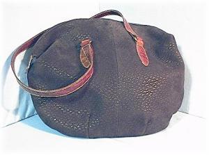 Purse Bag  FURLA Black Suede Tan Leather  (Image1)