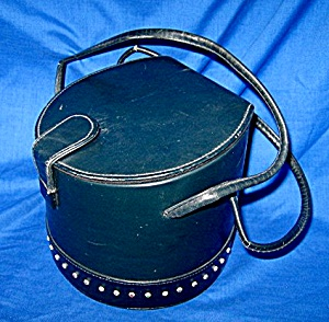 Vintage Black Handbag, Purse With Rhinestones (Image1)