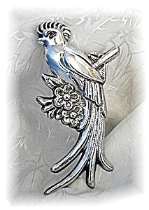 4 3/4 Inch  Fabulous MEXICAN Sterling Brooch (Image1)
