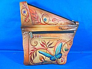 Anuschka Hand Painted Butterflies Crossbody Purse  (Image1)