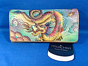 Anuschka Hand Painted Leather Dragon Ladies Wallet (Image1)