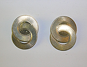 12K Gold Fill Patented WINARD Circle Clip Earrings (Image1)