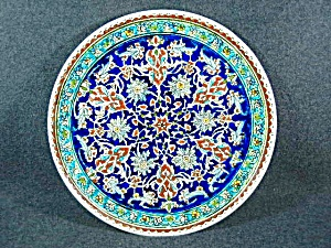 Made In Turkey, hand decorated wall plate.  (Image1)