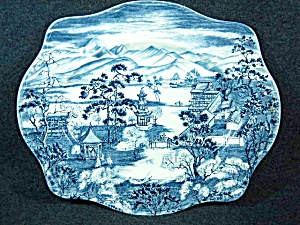 Johnson Brothers ENCHANTED GARDEN-BLUE Oval Serving Pla (Image1)