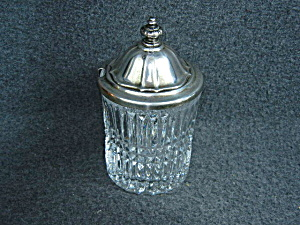 Crystal sugar bowl with lid (Image1)