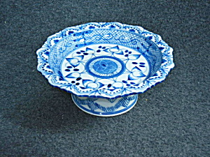 Oriental Blue And White Pedestal Bowl