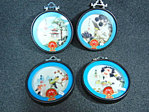 set of 4 Chinese 3D shell pictures Pearl Brand, Dalian  (Image1)