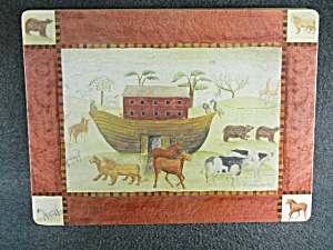 Set of 4 Noah's Crew Placemats by Carol Endres  (Image1)