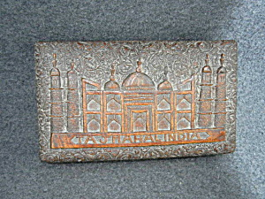 Wooden Box Taj Mahal Hand Carved Hinged Lid (Image1)