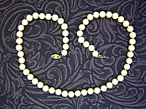 14K Gold Freshwater Pearls 7mm 18 Inch Necklace (Image1)