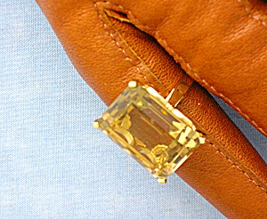 Ring 14K Gold Basket Set Golden Citrine  (Image1)